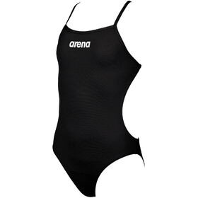 arena Solid Lighttech One Piece Badpak Meisjes, black/white